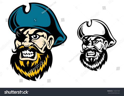 tattoo pirate cartoon old pirate captain in cartoon style for mascot or tattoo