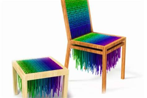 psychedelic couch knitted neon furniture baita design wool seating