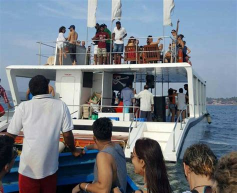 party boat goa party adventure cruise goa snorkeling fishing