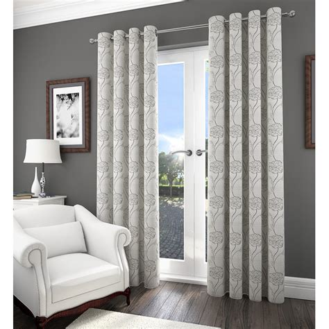 savannah curtains savannah floral jacquard fully lined curtain 66 x 90