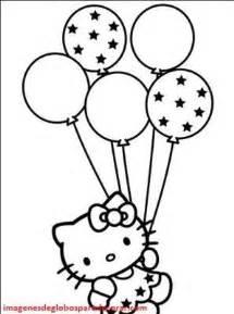 color con e cuatro imagenes con figuras de globos para colorear e