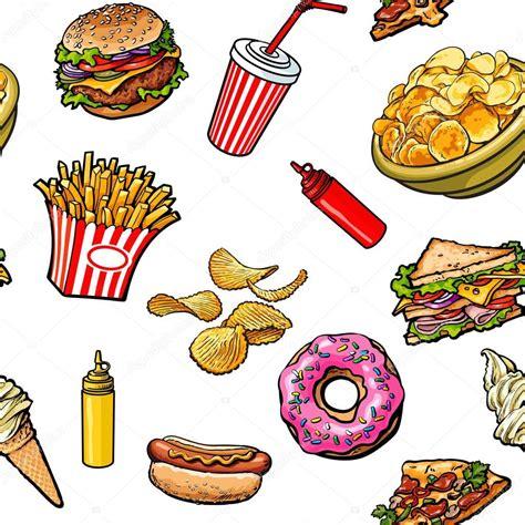 imagenes gratis comida boceto mano dibujado patrones sin fisuras de la comida