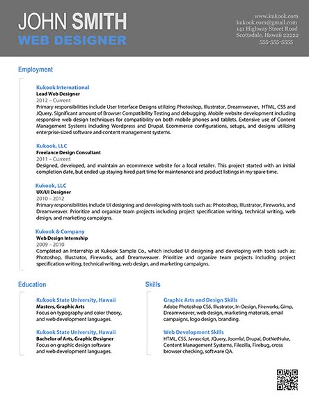 cv header design cv layout with contact in header google search