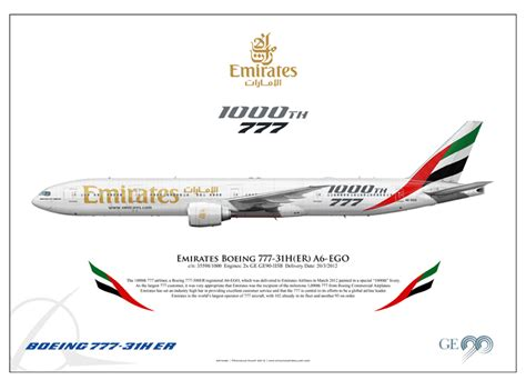 emirates payment options emirates quot 1000th 777 quot boeing 777 31h er a6 ego