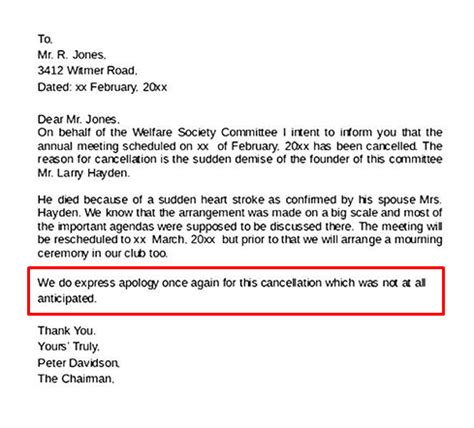 write  event cancellation email newoldstamp