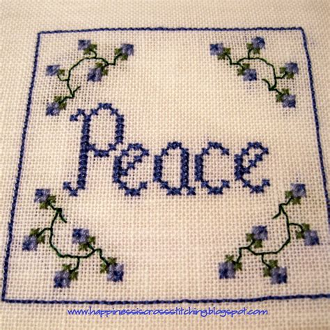 cross stitch happiness is cross stitching cross stitch ornaments progress on covered box and