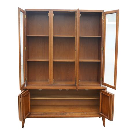 Codeartmedia.com: China Cabinet Hutch   52 Quot X 73 Quot Vintage Wood Glass Hutch China Cabinet