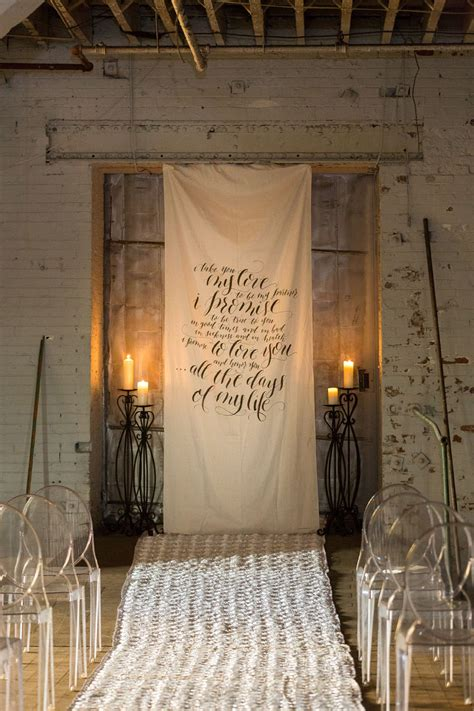 Wedding Vow Backdrop by Calligraphy Wedding Vow Fabric Backdrop For Ceremony By