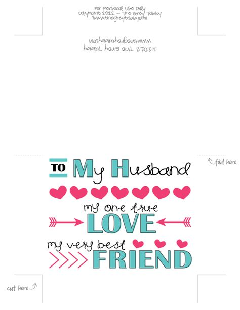 free cards for husband freebie friday to my husband a printable note card