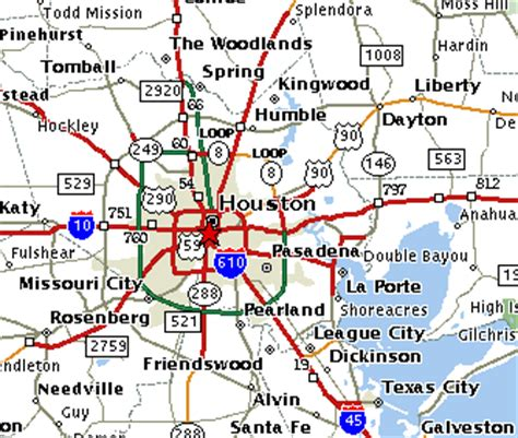 houston key map grid map of houston beaumont on world