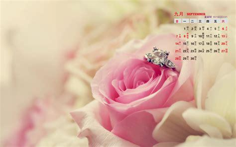 jewellery flower diamond background wall 3d wallpaper 2014年9月日历桌面壁纸非主流唯美浪漫爱情图片 日历壁纸 壁纸下载 美桌网