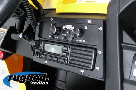rugged stereo black billet mobile radio intercom mounting plate for can am commander and maverick canam mt