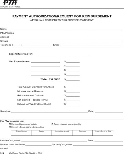 Pta Resume Sample by Download Request For Reimbursement Form For Free