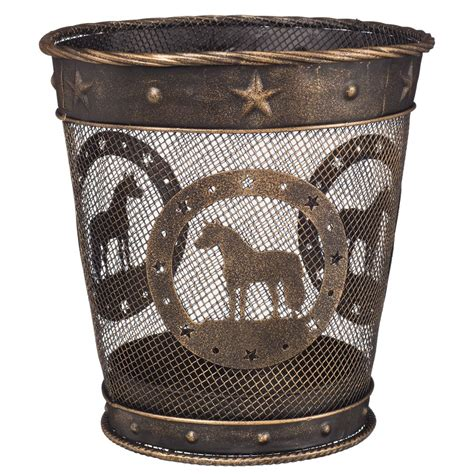 small waste baskets small equine motif waste basket