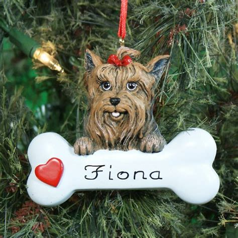 yorkie ornaments terrier personalized ornament giftsforyounow
