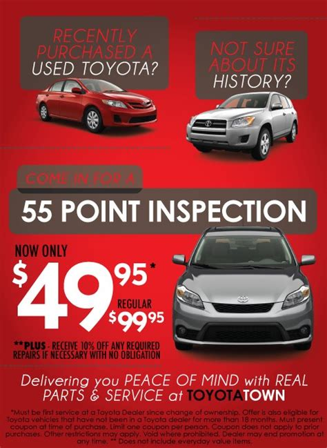 toyota service ontario get great service specials in ontario at toyotatown