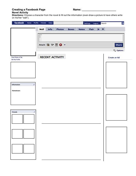 best photos of facebook template fill in facebook page