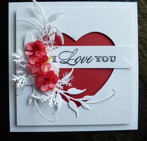 Valentines Day Handmade Card - card supplies papermill direct