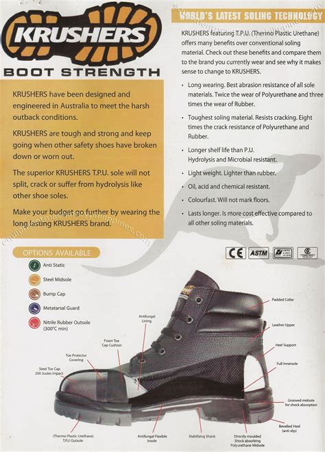Safety Shoes Krushers by Krushers Industrial Safety Shoes Features Philippines