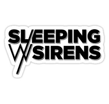 Sleeping With Sirens Feel Iphone All Hp quot sleeping with sirens logo quot stickers by kbiskit redbubble