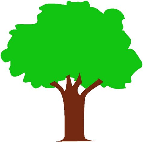 Tree Outline Green by Green Tree Clipart Best