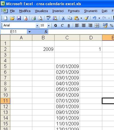 Creare Un Calendario Come Creare Un Calendario Con Excel By Marco Barontini Aka