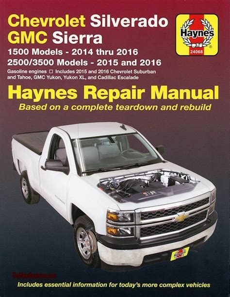 shop manual service repair book 2007 gmc chevrolet repair manual chevy silverado tahoe sierra escalade 2014 2016