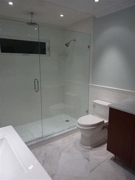 Carrara Tile Bathroom by Ceramictec Subway Carrara Glass Tile Bathroom St Petersburg Fl
