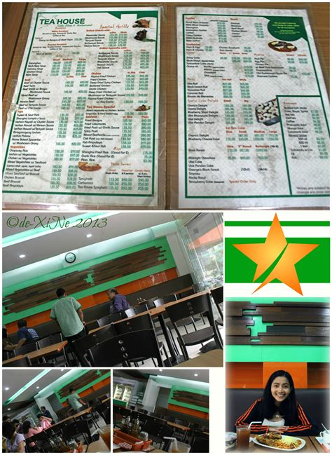 tea house menu tea house menu x marks the spot for good baguio foods