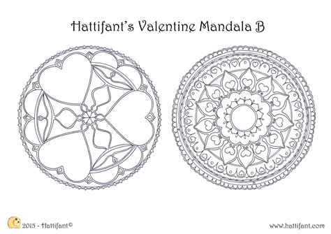 mandala coloring pages valentines hattifant s valentine mandala colouring pages hattifant