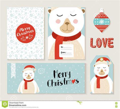 http www topcard tag templates pic m header card desig jpg polar merry greeting card set stock vector