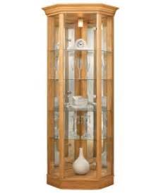 Corner Glass Display Cabinet Oak Effect Buy Corner Glass Display Cabinet Light Oak Effect At