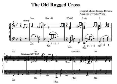 the rugged cross piano sheet the rugged cross piano sheet piano