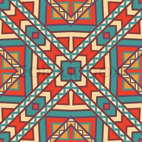 aztec colors seamless colorful aztec pattern stock vector colourbox