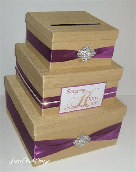 how to make a bridal gift card box wedding gift box bling card box money holder rhinestone card