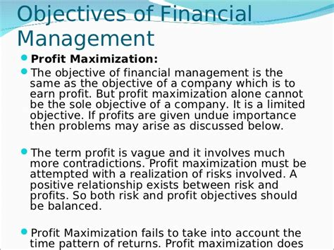 14127918 financial management scope objectives and types
