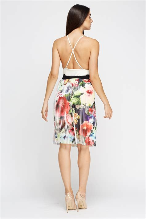 Pleated Floral Midi Skirt pleated floral midi skirt just 163 5