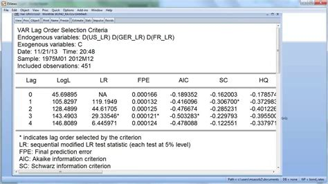 eviews tutorial vector autoregression estimating a var p in eviews youtube