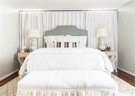curtain bed alyssa rosenheck white curtains headboard