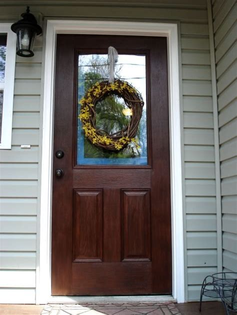 How To Stain A Fiberglass Exterior Door How To Stain An Fiberglass Door Home Sweet Home