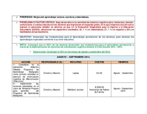 ejemplo de diagnostico de ruta de mejora preescolar borrador ruta de mejora 2014 2015