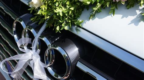 Full HD Wallpaper audi symbol ribbon wedding, Desktop