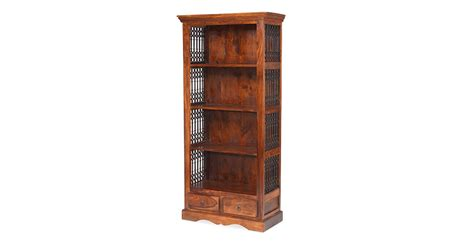 jali sheesham square bookcase lifestyle furniture uk