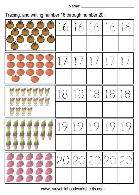 free printable math worksheets for numbers 11 20 numbers 11 20 worksheets worksheets for all download and