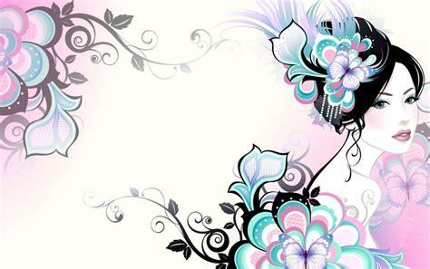 imagenes fondo de pantalla para mujer mujer de la flor de la mariposa de la manera fondos de