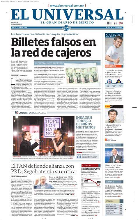 Periodico El Universal De Mexico | peri 243 dico el universal m 233 xico peri 243 dicos de m 233 xico