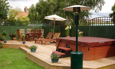backyard deck designs with hot tub wooden backyard hot tub deck plans build a hot tub deck