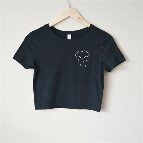 Brandy Melville Home Decor by Rain Cloud Crop Top Black On Storenvy