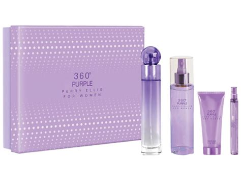 Perry Ellis 360 Set perry ellis 360 purple 4pcs set for 100ml eau de