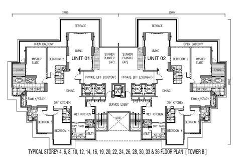 one storey residential floor plan one tanjong floor plan